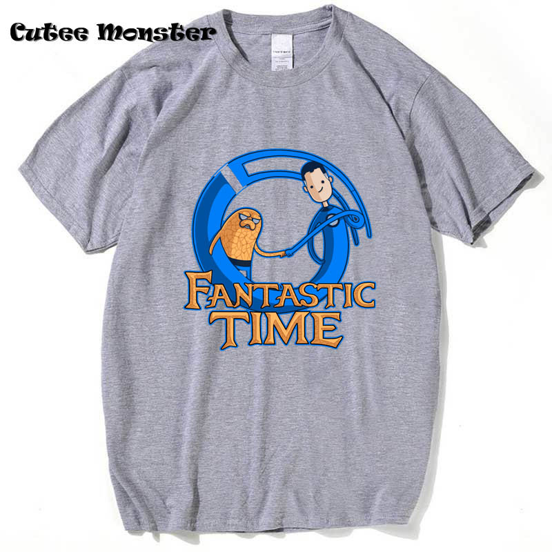Funny Harajuku Adventure Time T Shirt Men 2017 Jack Basic T-Shirt Video Games Fantastic Beasts Top Tees Mens Clothing