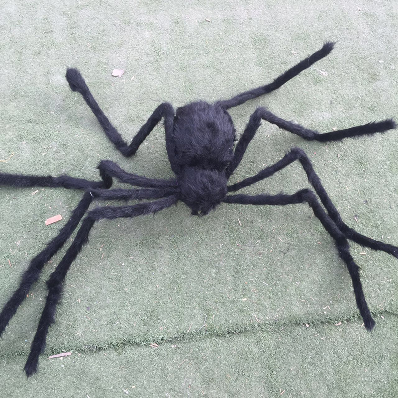 poseable furry spider light giant spider halloween decorations holiday halloween props haunted house ideas party yard