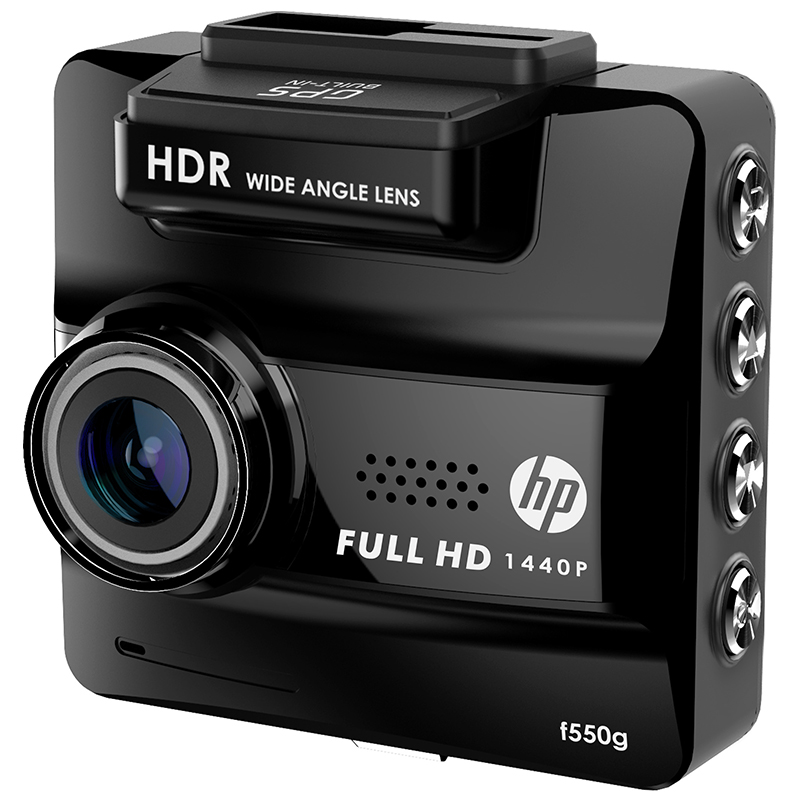 hp f550g driving recorder high definition 1440p night vision 156 degrees wide wide angle. Black Bedroom Furniture Sets. Home Design Ideas
