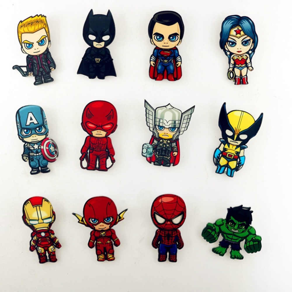 Marvel Badges Avengers Brooch Pins Thor Pin Movie Endgame Jewelry Iron Man Captain America Spiderman Brooches For Women Men Gift