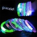 Hot  Acrylic Transparent LED Luminous Bangle Bracelet Birthday Party Supplies