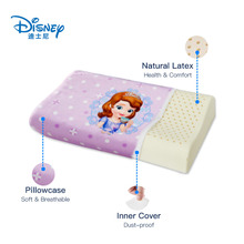 Disney Sophia Children's Natural Latex Cervical Pillow Neck Protection Sleeping bed Pillow Orthopedic Pillow with Pillowcase in stock 2018 xiaomi 8h z2 natural latex elastic soft pillow neck protection cushion