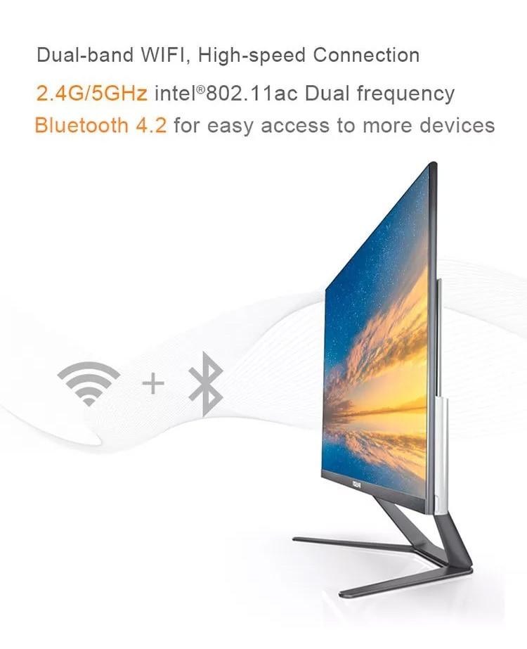 SSD WIFI Bluetooth fronteira Estreita Preto mini PC