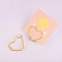 New Love Card Golden Rose Clip Lovely Cartoon Photo Holder Metal Foto Business Holders Desk