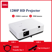 DELI DPS-W435 High Definition 1280P Professional Projector Teaching Conference Household Small size Projection machine