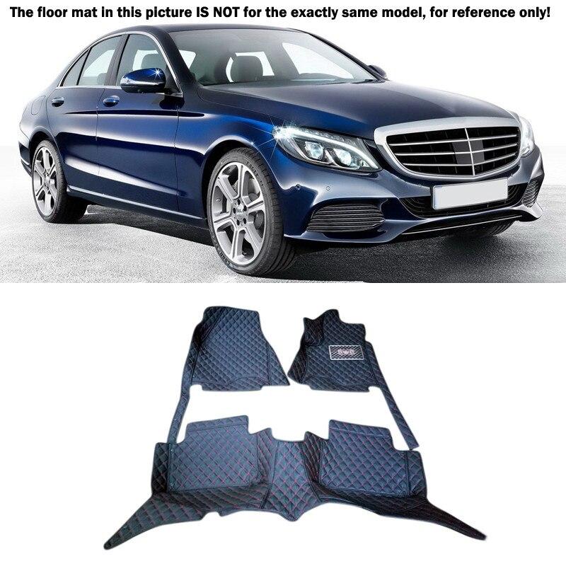 Pour Mercedes-Benz Classe C W205 2014 2015 2016 2017 Accessoires Intérieur En Cuir Tapis Couverture De Voiture Sol de Tapis De Pied Pad 1 set