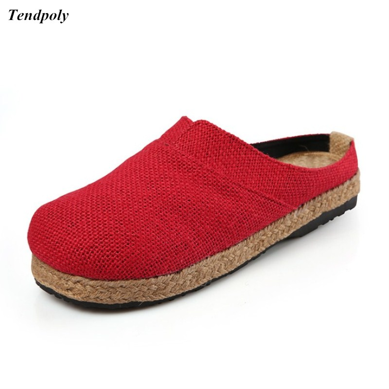 Chinese folk style linen Women's shoes ladies leisure summer all-match Baotou direct preferential permeability pure hemp shoes monsters of folk monsters of folk monsters of folk