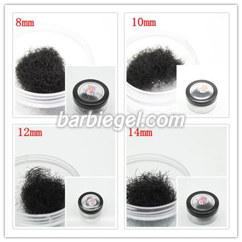 4pcs lot 8mm 10mm 12mm 14mm Individual Black False Eyelash Extension Eye Lashes font b Makeup