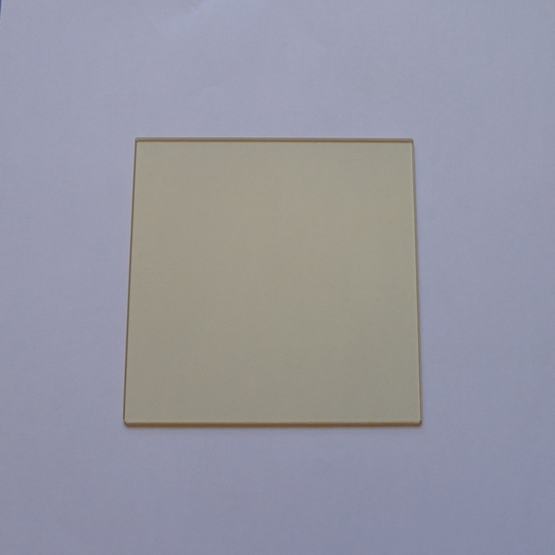 Tempered JB420 filter, golden glass 420 nm before cut-off, after passing, 80*80*2 mmTempered JB420 filter, golden glass 420 nm before cut-off, after passing, 80*80*2 mm