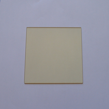 Tempered JB420 filter, golden glass 420 nm before cut-off, after passing, 80*80*2 mm