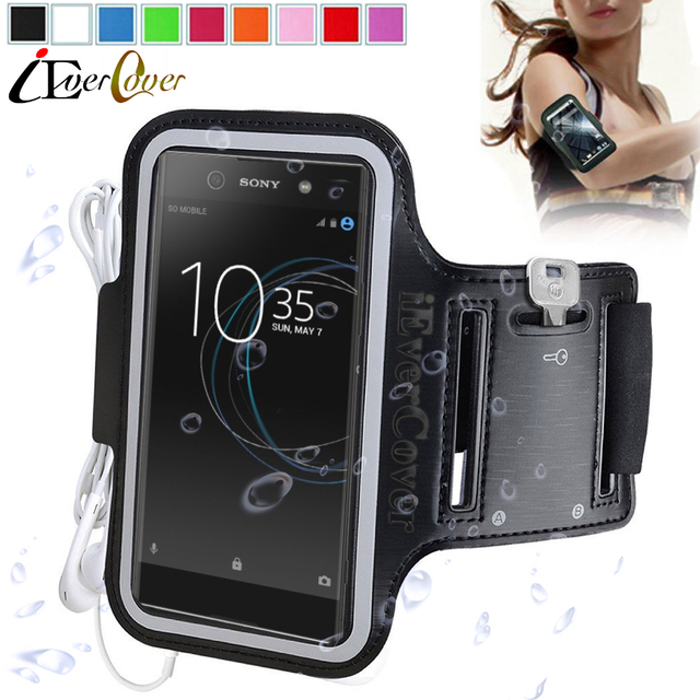premium selection 9bb13 0782f US $3.46 24% OFF|Sport Arm Band Jogging Case for Sony Xperia XA1 Ultra  G3212 G3226 G3221 G3223 / T2 Ultra Waterproof Phone PU Leather Bag Cover-in  ...