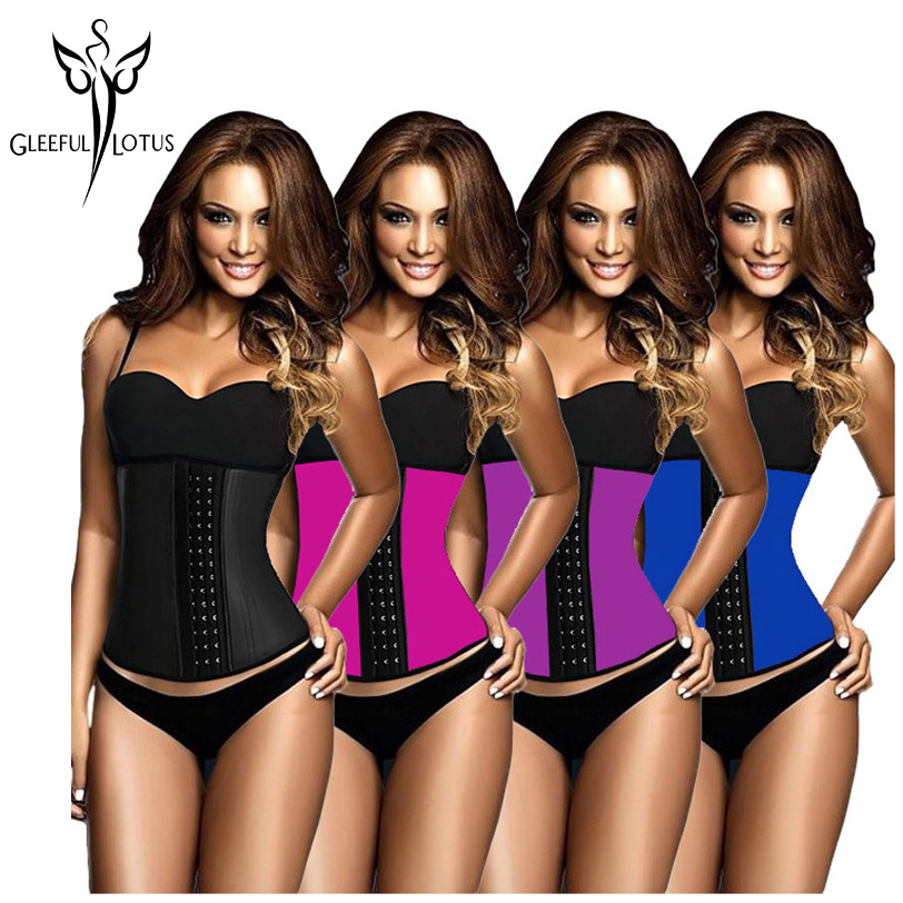 2547c9cbf33 waist trainer latex modeling strap corsets steel slimming sheath belly  cincher Shapewear fitness corset reduce belt girdle fajas - a.kataj.me