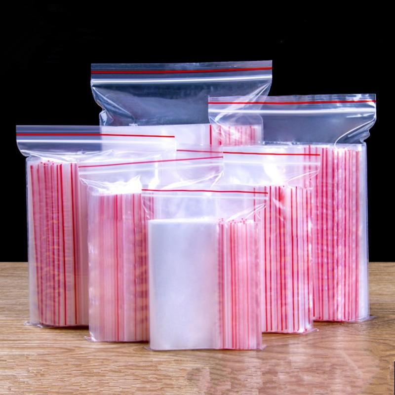 Упаковка для ювелирных изделий, прозрачный полиэтиленовый пакет с застежкой-молнией, толщина 0,05 мм, 100 шт./упак.