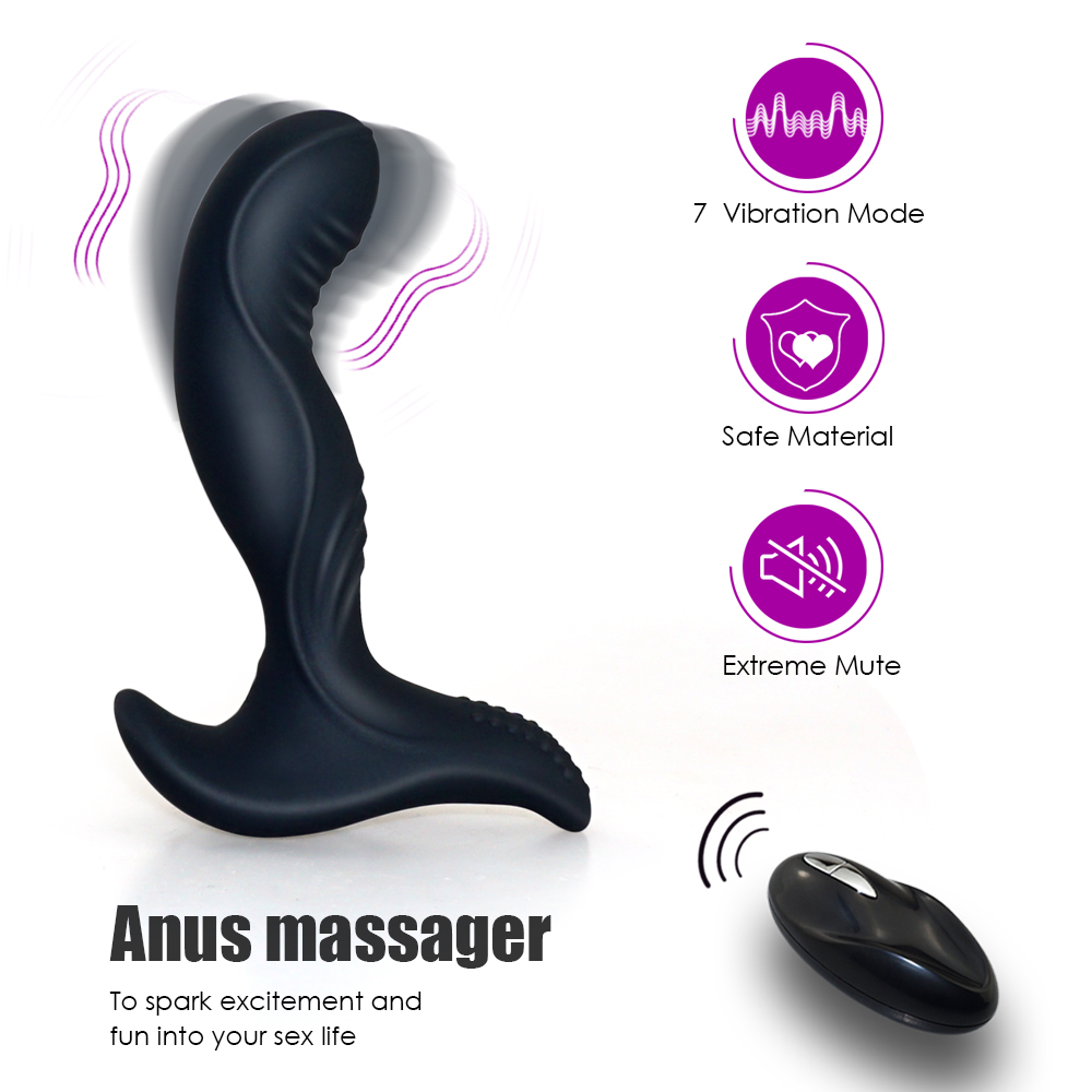 Men masturbator Anal plug Mute Wireless remote control Anal vibrator,Silicone Male Prostate Massager Adult sex toys for men levett prostate massager anal butt plug vibrator silicone remote rechargeable 8 speeds adult sex toys for men erotic shop