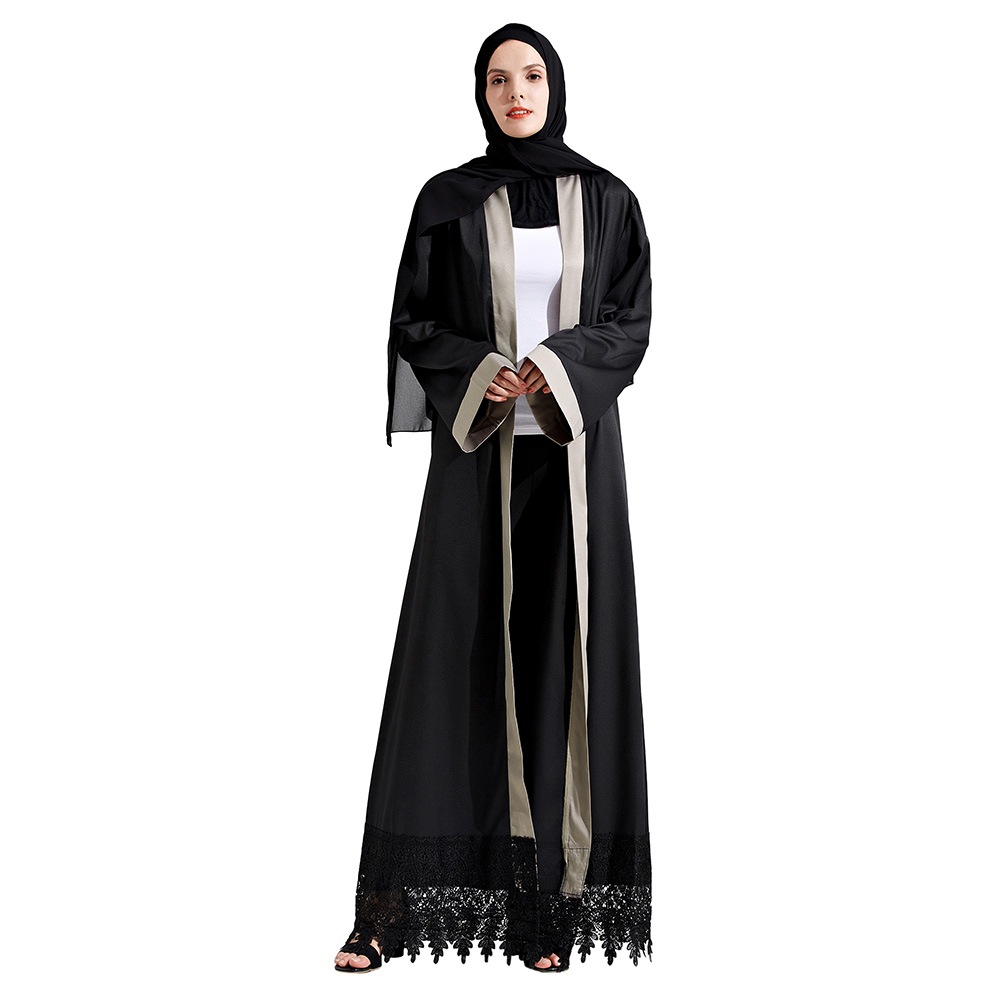 Muslim Tassel Lace Stitching Maxi Dress Abaya In Dubai Islamic Atasan Pola Abu Shop At Velvet Clothing For Women Jilbab Djellaba Elegant Black Robes Musulmane From
