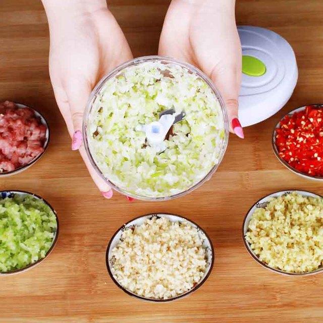 Manual de Alimentos Processador de Alimentos Multifuncional Máquina de Carne Doméstico Vegetal Chopper Shredder Triturador Liquidificador