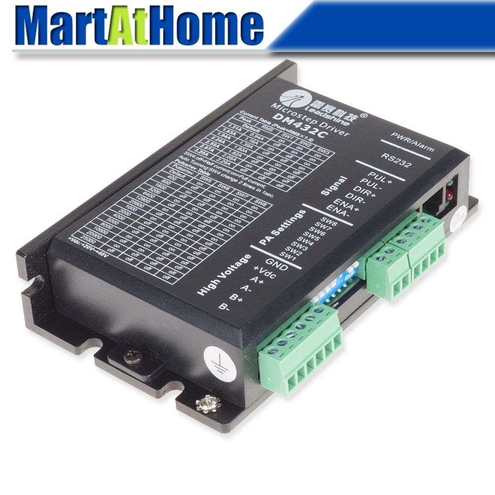 US $59 9 |New Leadshine DM432C CNC Digital Stepper Motor Drive Controller  40VDC/3 2A #SM018 @CF-in Motor Driver from Home Improvement on