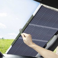 65CM/70CM Upgarde Retractable SUV Truck Car Front Windshield Sunshade Rear Window Sun Visor UV Protection Curtain