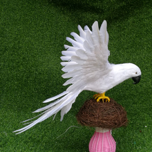 big wings parrot model foam&feathers white bird handicraft,prop,home garden decoration gift about  65x50cm big wings parrot toy plastic