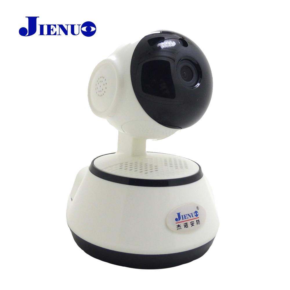 JIENU câmera ip 720 p wi-fi cctv sistema de segurança sem fio em casa mini ptz cam vigilância Suporte para cartão Micro sd slot para visão Noturna ipcam