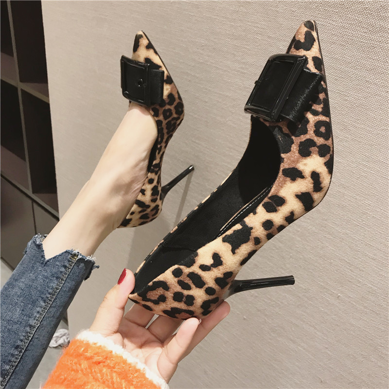 Rimocy sexy ladies pointed toe leopard pumps 2019 spring feshion thin high heels slip on party wedding shoes woman sandals mujerRimocy sexy ladies pointed toe leopard pumps 2019 spring feshion thin high heels slip on party wedding shoes woman sandals mujer