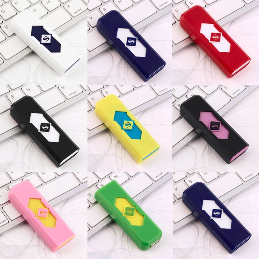Portable Electronic No Gas font b USB b font Rechargeable Lighter Flameless Superman Cigar Cigarette Lighter