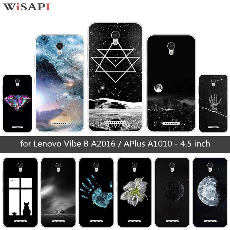 """Đối với Lenovo A1010 A2016 A20 Cộng Với Một Lại Bìa Mềm Silicone Funda Đối Với Lenovo APlus A1010a20 Một 1010 4.5 """"trăng Trường Hợp Điện Thoại"""