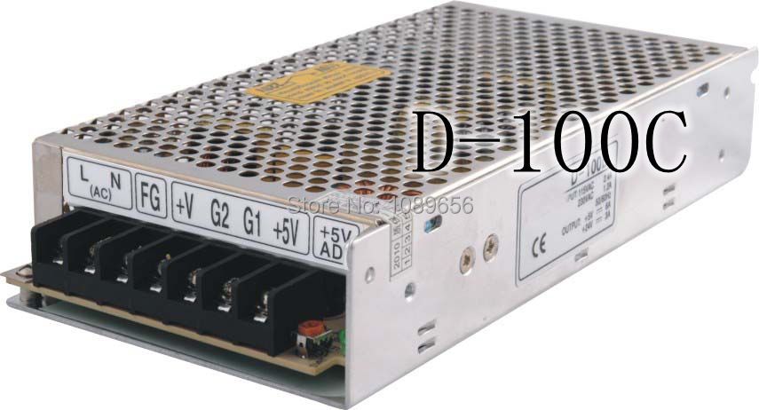 D-100C импульсный источник питания с двойным выходом, 100 Вт, 12 В, 24 В, 4 а, 2 А, источник питания переменного и постоянного тока, преобразователь пе...