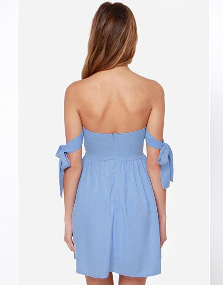 0f10e45b1b8 2015 New Arrvial Make a Wish Off the Shoulder Periwinkle Dress Summer Dress  Beach Dress Women Dress-in Dresses from Women s Clothing on Aliexpress.com  ...