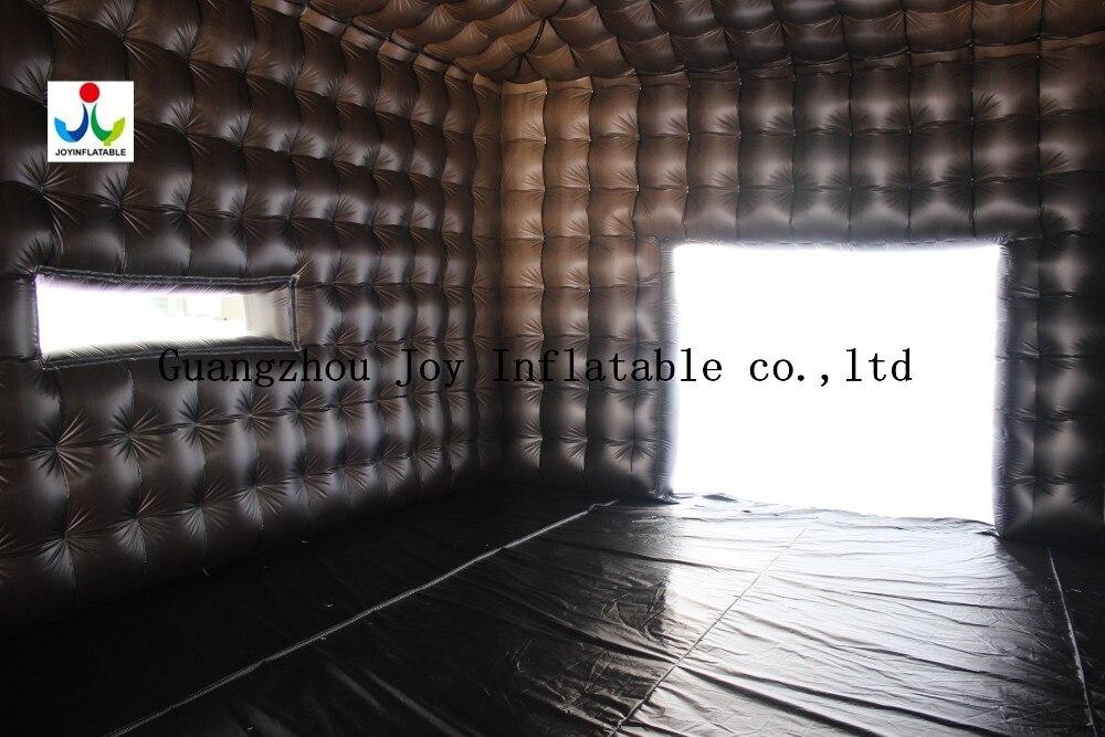 8LX8WX4HM 210D Оксфорд гигантский надувной куб палатка в белом и черном цвете - 3