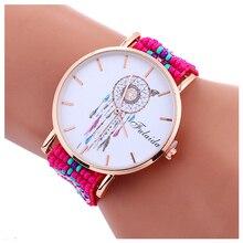 1 шт. fulaida «Ловец снов» Gold Case бисером часы для женщин эксклюзивный стиль леди основы кварц элегантность часы цвет 8