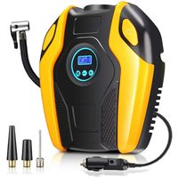 Car Air compressor Pump Tire Inflator 12V DC Portable Auto Tire pump with Digital Display up to 150PSI for Car Bicycle