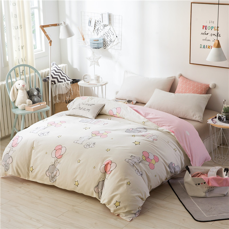 Cute Cartoon Balloon Pattern Bedding 1Pcs Duvet Cover Comforter/Quilt/Blanket Case 100% Cotton With Zipper Double Single 4 Size