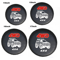 Car stying 4WD 4X4 14 17 Inch PVC Spare Wheel Tire Cover Case Bag Pouch Protector For Jeep Hummer for Ford Tire Cover|Tire Accessories|Automobiles & Motorcycles -