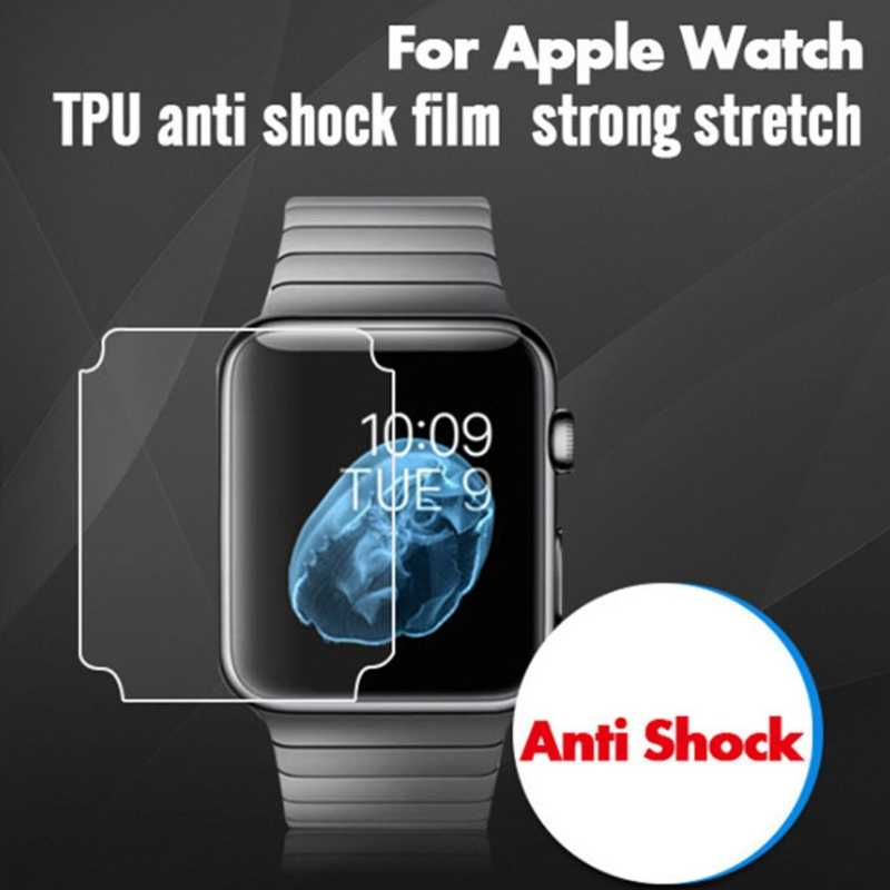 OOTDTY Full Coverage Screen Protector TPU Film For Apple Watch iWatch Series 1/2/3 38mm 42mm