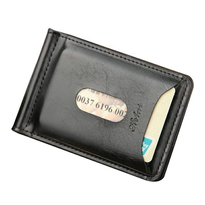 Quality Money Clip Short Wallets Men Pu Leather Black Clamp Dollar Dollar Holder Famous Brand Male Magic Wallet Clip Business hot sale 2015 harrms famous brand men s leather wallet with credit card holder in dollar price and free shipping