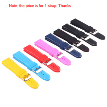 Buy 2 Get 20% OFF) Solid Watch Silicon Rubber 18mm 20mm 22mm 24mm  Multi Color Army Military watchbands Strap Bands Buckle 18mm