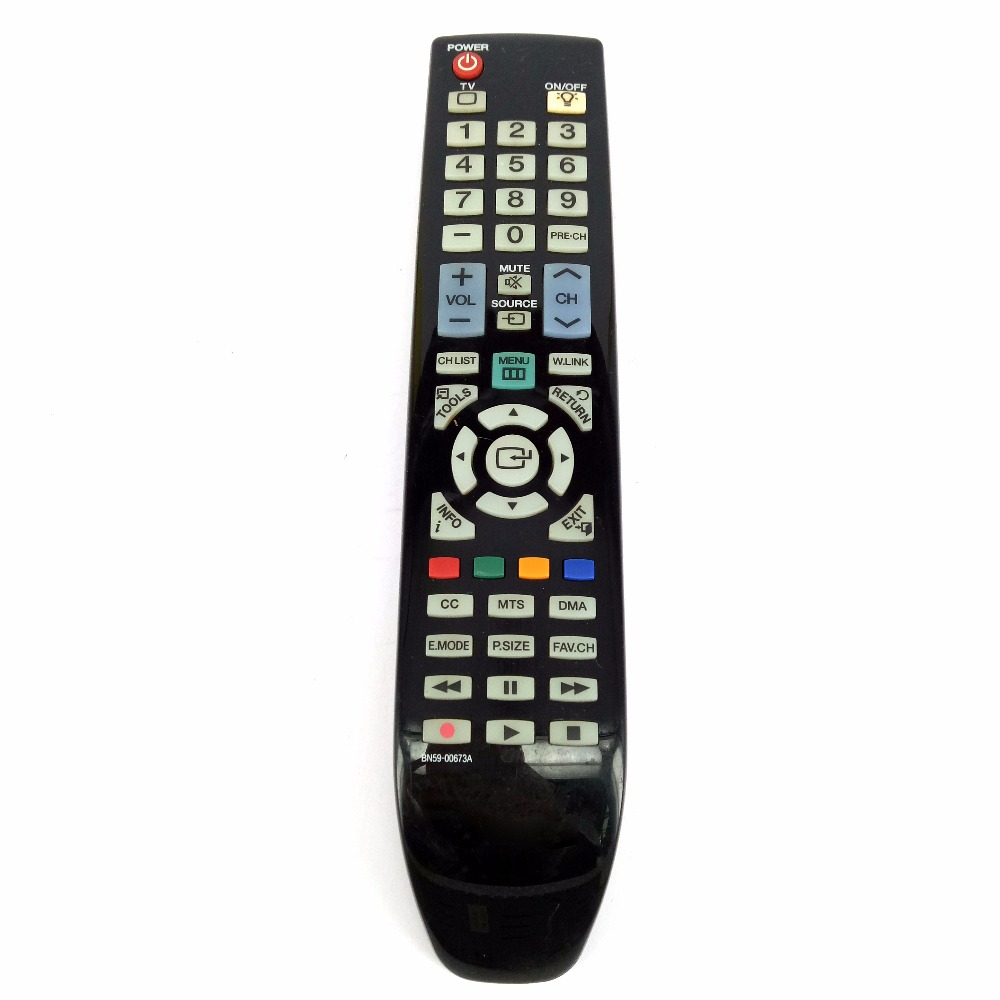 Used Original Remote Control for Samsung TV Remote control BN59-00673A for HL50A650 HL50A650C1 used original bn59 01242a smart voice remote control with scratches suit for samsung 4k uhd tv mu7009 mu8009 ks9090 ks9590ku6679