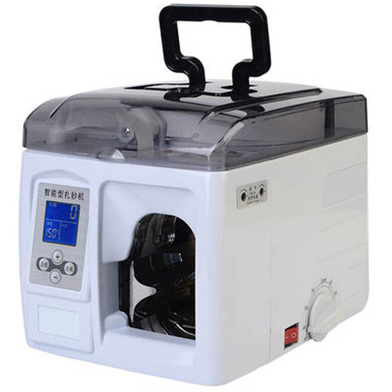 Portable Fast Speed Banknote Bundling Machine 220V 80W Intelligent Money Binder Machine Currency Paper Strapping Machine K-100