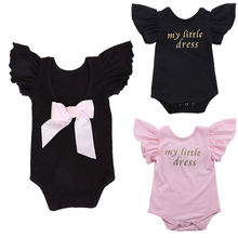 2016 Lovely Newborn Kids Baby Girl Clothes Infant Summer Bodysuit Bebes Body Outfit 0-24M
