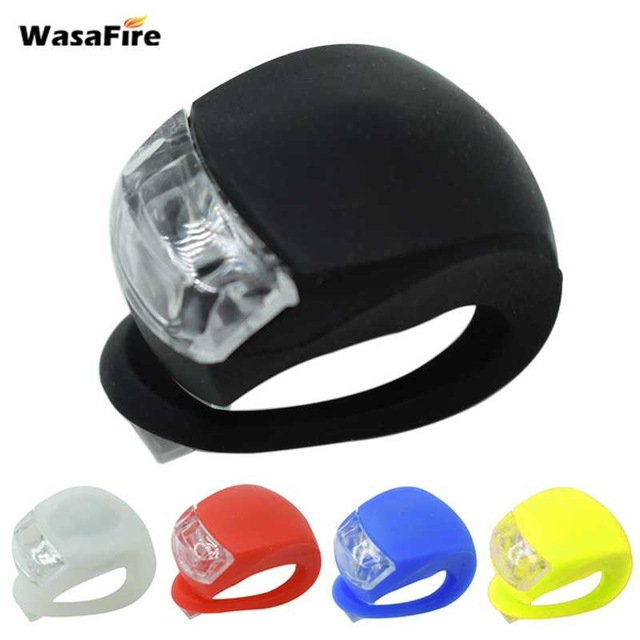 WasaFire New Bicycle Head Light Front Rear Wheel Light LED Flash Safety Light Silicone Cycling Lamp 1PC Farol Bike Accessories