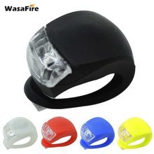 WasaFire New Bicycle Head Light Front Rear Wheel Light LED Flash Safety Light Silicone Cycling Lamp 1PC Farol Bike Accessories(China)