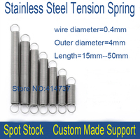 5pcs 1 8 305mm Stainless Steel Spot Spring 0 8mm Wire Hammer Spring Y Type Compression