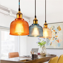 JAXLONG Modern Colorful Glass Pendant Lights Kitchen Dining & Bar Led Hanging Lamp Dinning Bar Restaurant Light Fixture Lustre modern led lustre pendant light white fixture suspension luminaire disign for restaurant with lampshade wine glass hanging lamp