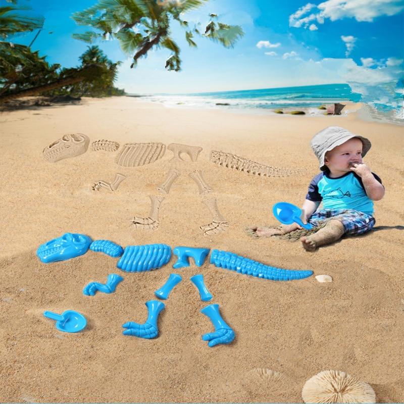 2018 Summer New 1 Set Children Beach Sand Play Toys Dinosaur Sand Printed Toy Set Color Random Beach Sand Play Toys