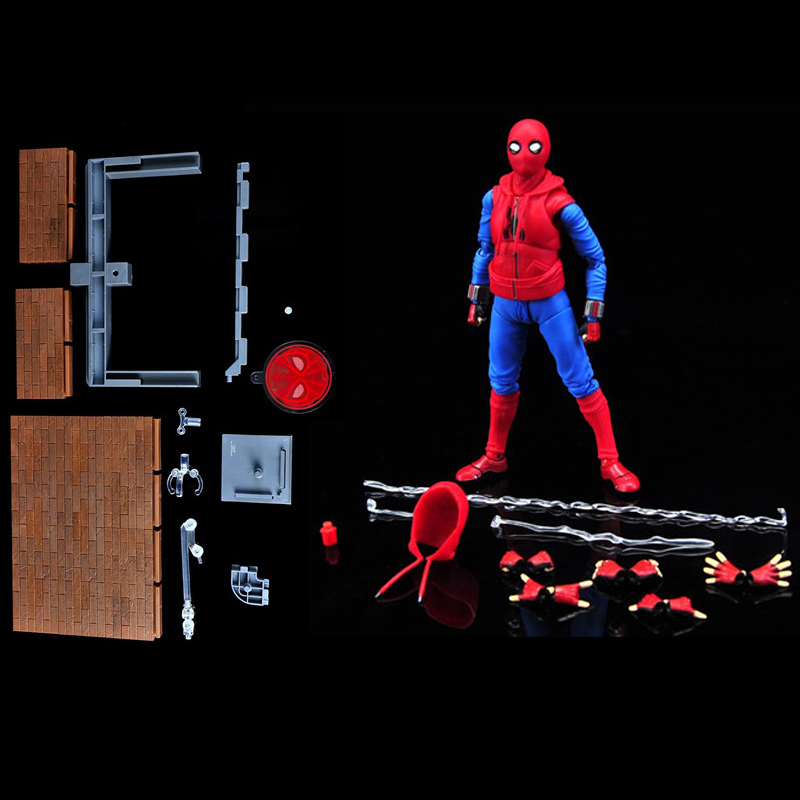 Spider Woman Spiderman Spider Man Homecoming Tamarshii Option Act Wall Home Made Suit Ver. PVC Action Figure