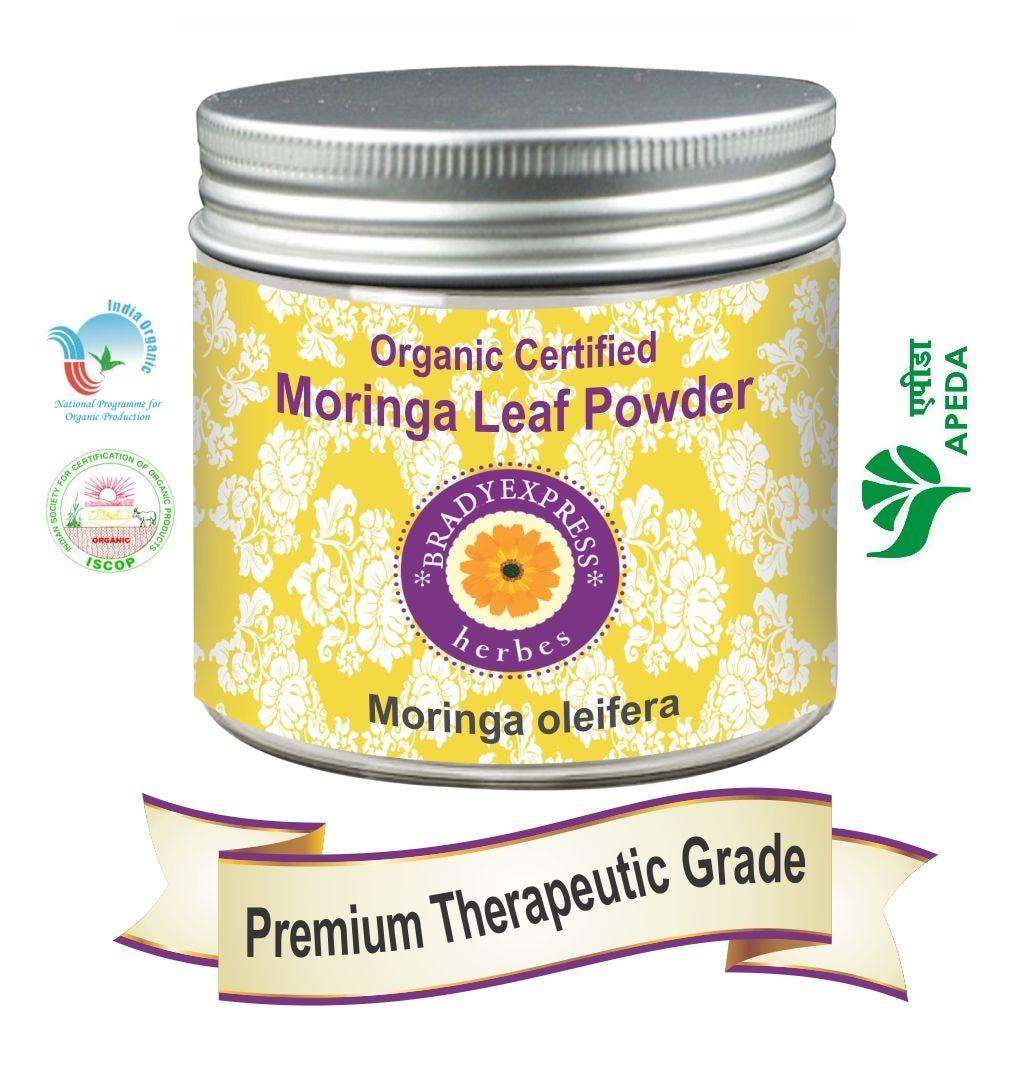 FRee Shipping Organic Certified Moringa Leaf Powder Moringa oleifera 200grm 100% Natural New
