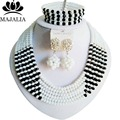 Fashion White Nigeria Wedding african beads jewelry set Crystal necklace bracelet Bridal Jewelry sets Free shipping G-144