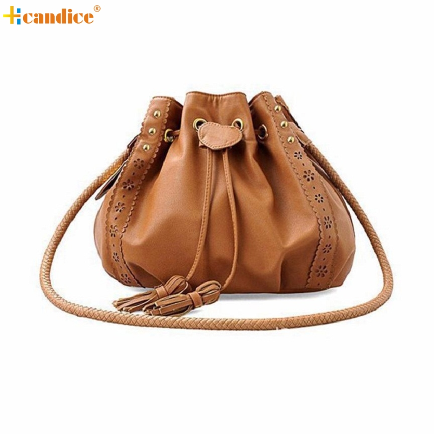 Naivety 2016 New Tassel Women Shoulder Bag Lady Hollow Out Handbag Tote Purse PU Leather Rivet Hobo Bags AUG15 drop shipping naivety new fashion women tassel clutch purse bag pu leather handbag evening party satchel s61222 drop shipping