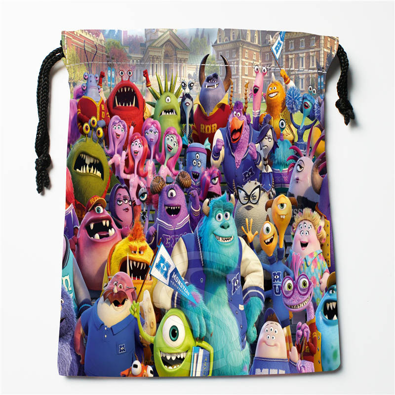 T#!c104 New Monsters University Custom Printed  Receive Bag Compression Type Drawstring Bags Size 18X22cm 7&12ft-b104